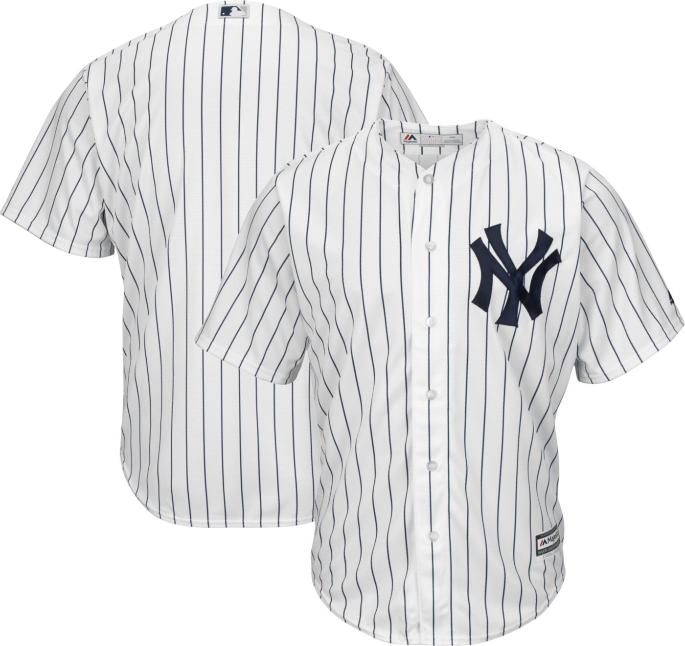 Majestic Men's Replica New York Yankees Cool Base Home White Jersey