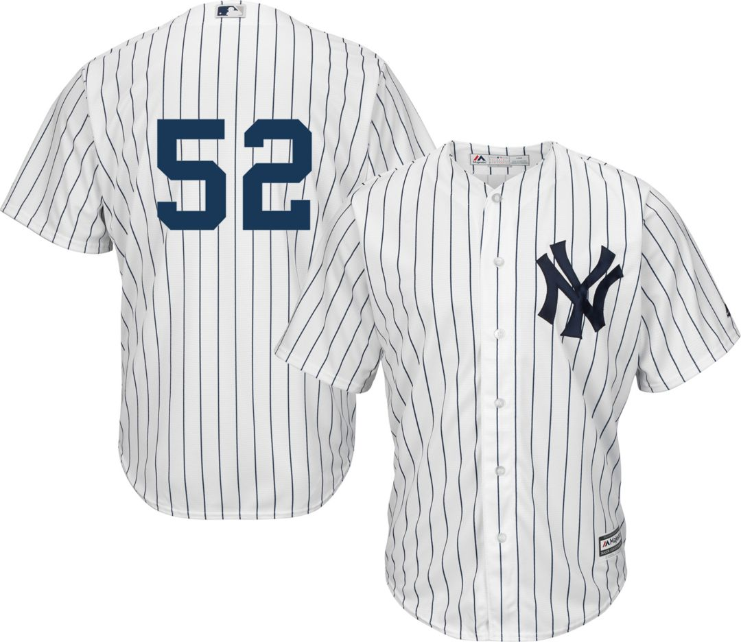 finest selection 27f5d 61f2f Majestic Men's Replica New York Yankees CC Sabathia #52 Cool Base Home  White Jersey