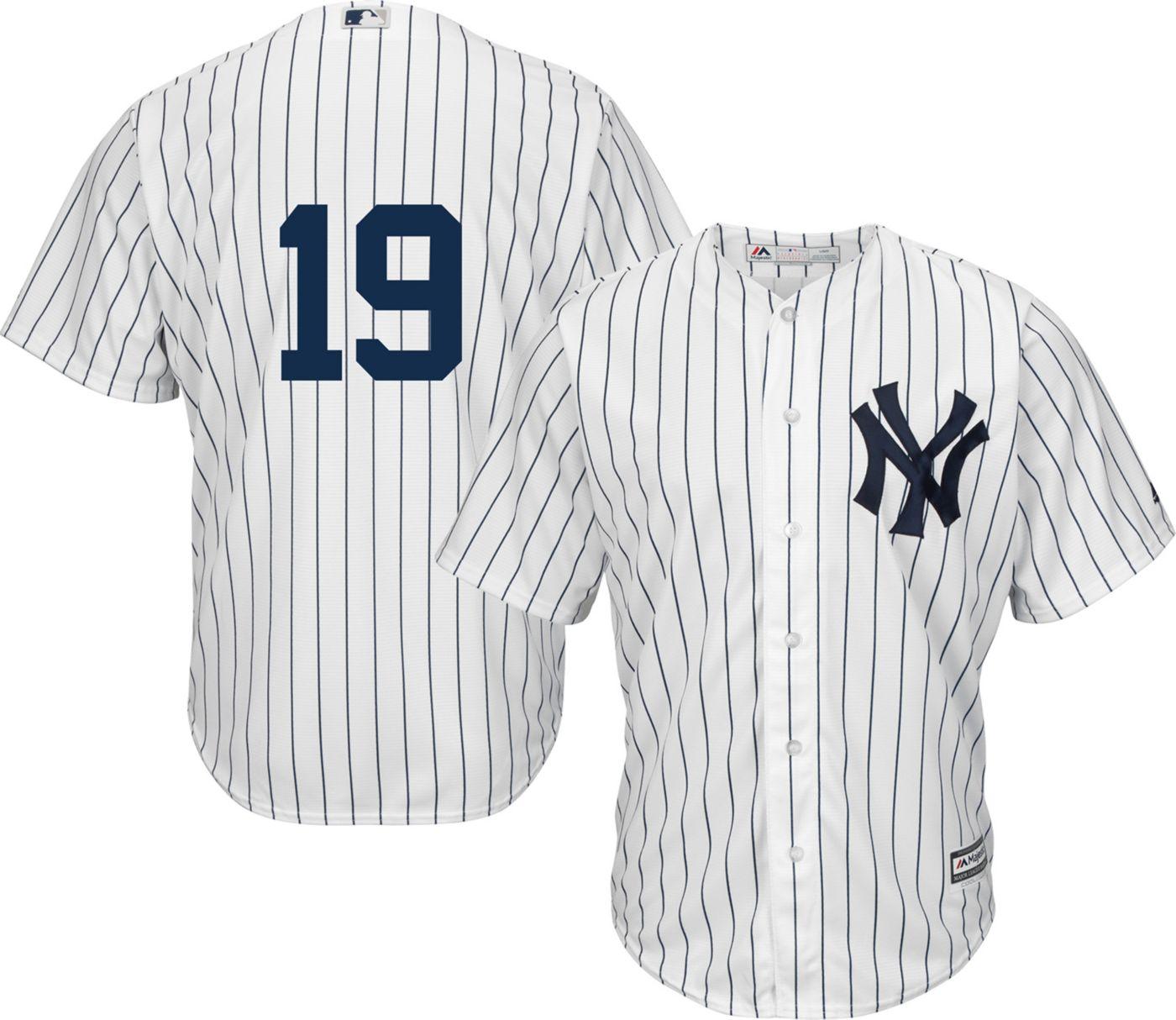 Majestic Men's Replica New York Yankees Masahiro Tanaka #19 Cool Base Home White Jersey