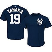 Majestic Men's New York Yankees Masahiro Tanaka #19 Navy T-Shirt
