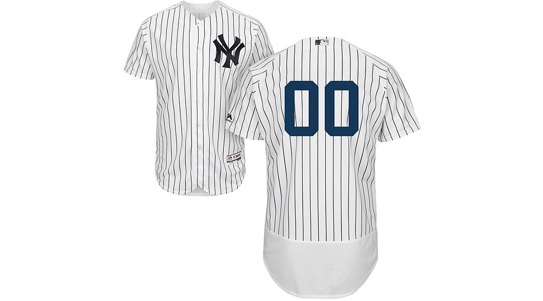 d45b1339 Majestic Men's Full Roster Authentic New York Yankees Flex Base Home White  On-Field Jersey