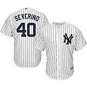 Majestic Men's Replica New York Yankees Luis Severino #40 Cool Base Home White Jersey
