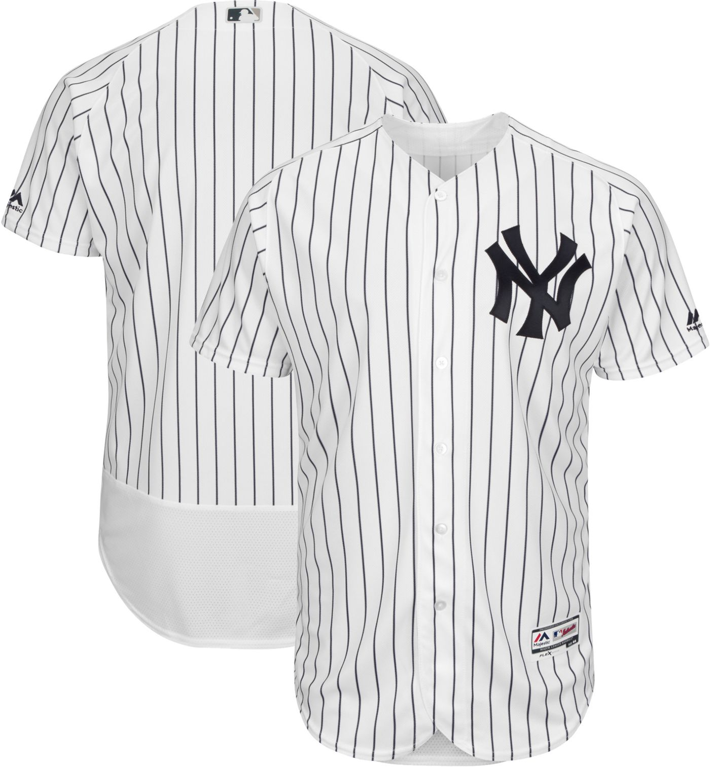 Majestic Men's Authentic New York Yankees Home White Flex Base On-Field Jersey