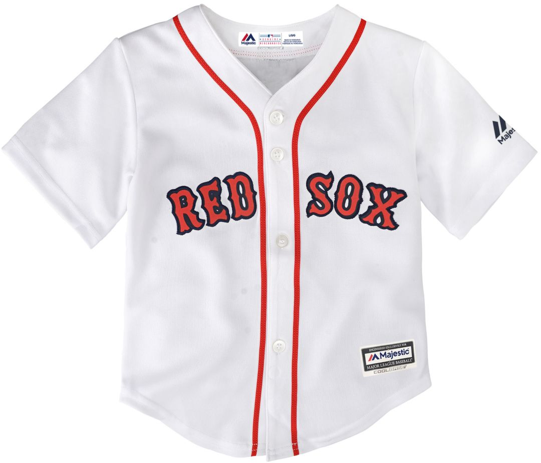 size 40 ddf59 296d5 Majestic Toddler Replica Boston Red Sox Cool Base Home White Jersey
