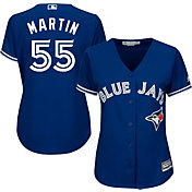 Majestic Women's Replica Toronto Blue Jays Russell Martin #55 Cool Base Alternate Royal Jersey