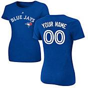 Majestic Women's Custom Toronto Blue Jays Royal T-Shirt