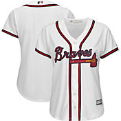 Majestic Women's Replica Atlanta Braves Cool Base Home White Jersey