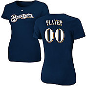 03de515067f35c Product Image · Majestic Women s Full Roster Milwaukee Brewers Navy T-Shirt