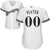 Majestic Women's Full Roster Cool Base Replica Milwaukee Brewers Home White Jersey