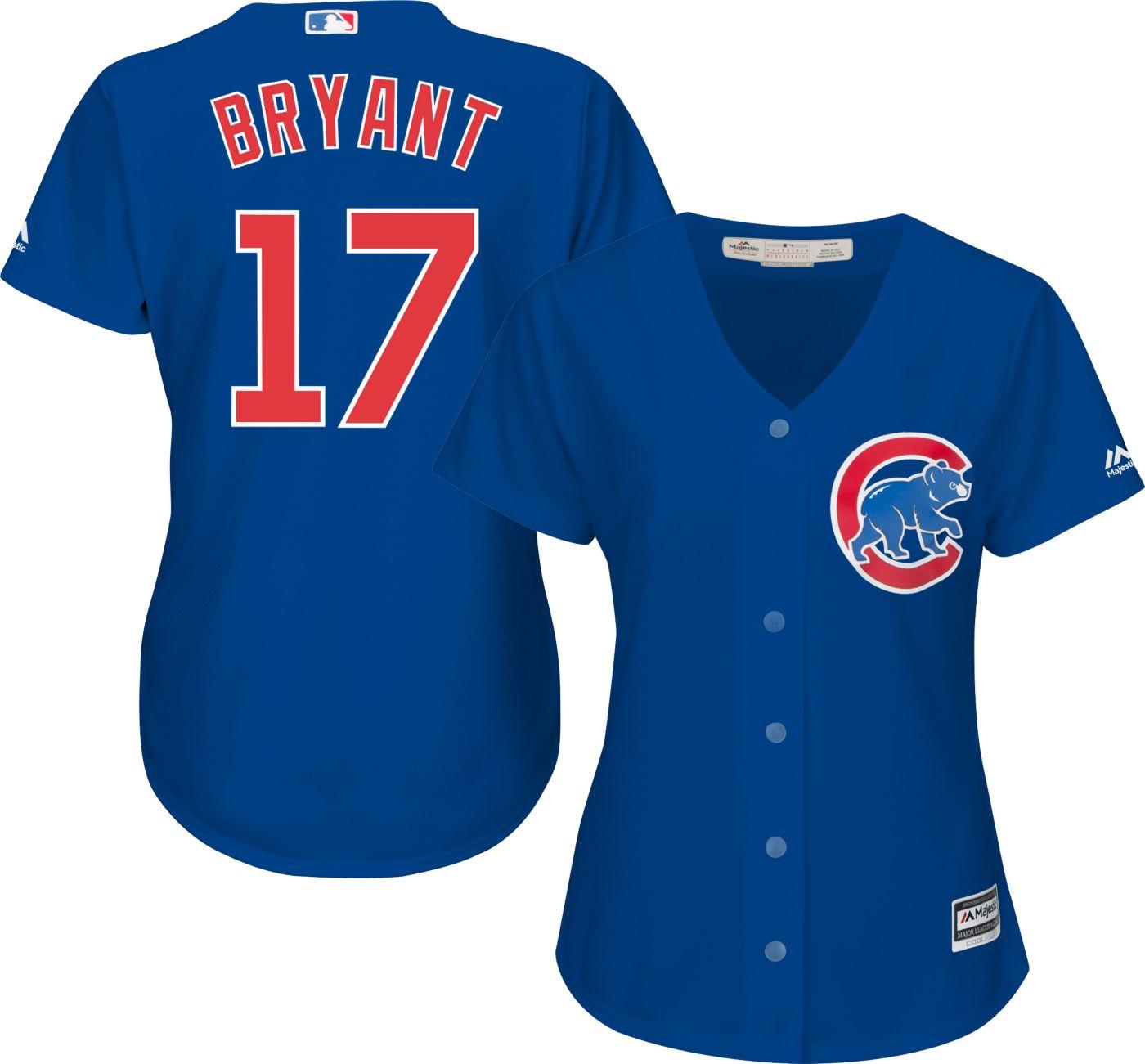 Majestic Women's Replica Chicago Cubs Kris Bryant #17 Cool Base Alternate Royal Jersey