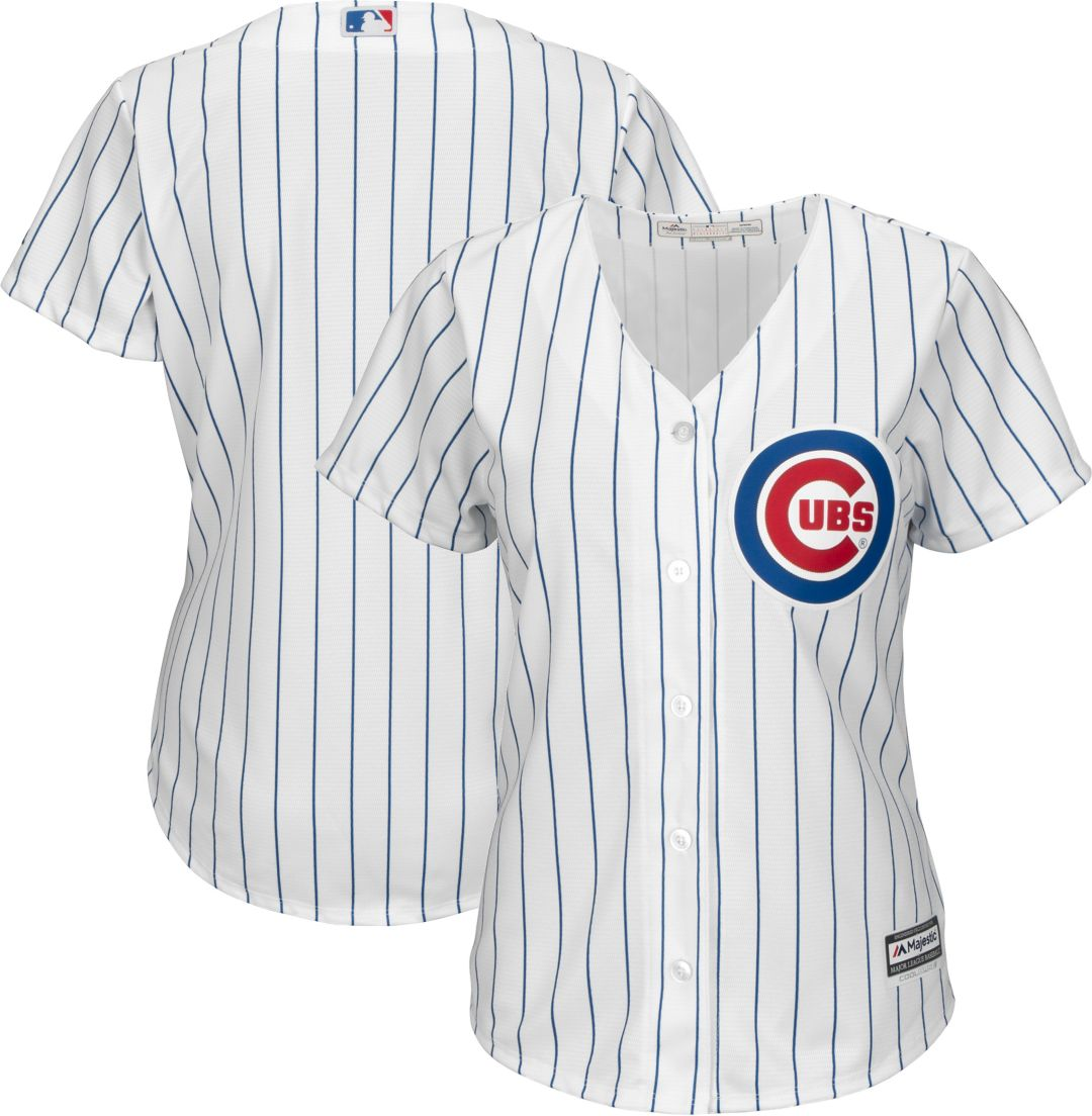 buy popular caaef 8f1ef Majestic Women's Replica Chicago Cubs Cool Base Home White Jersey