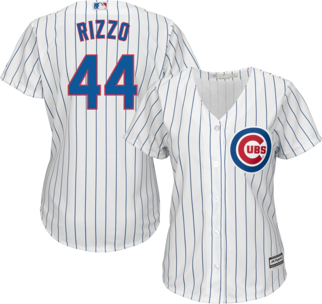 pretty nice bf421 77a41 Majestic Women's Replica Chicago Cubs Anthony Rizzo #44 Cool Base Home  White Jersey