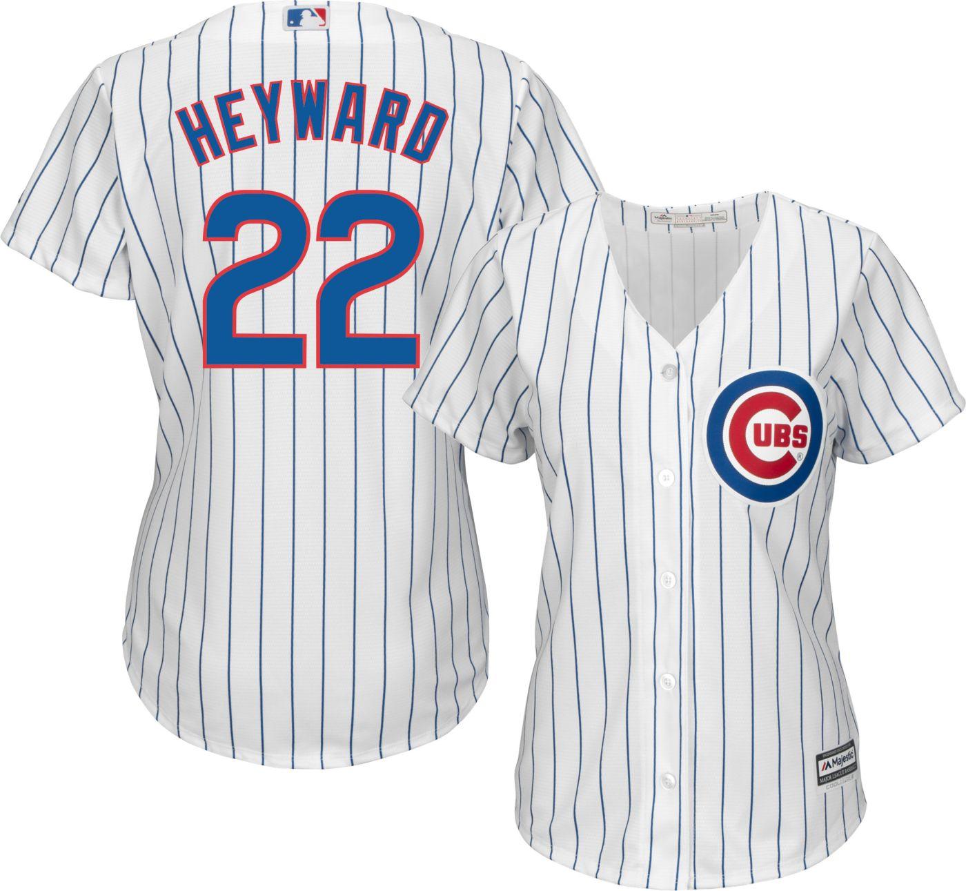 Majestic Women's Replica Chicago Cubs Jason Heyward #22 Cool Base Home White Jersey