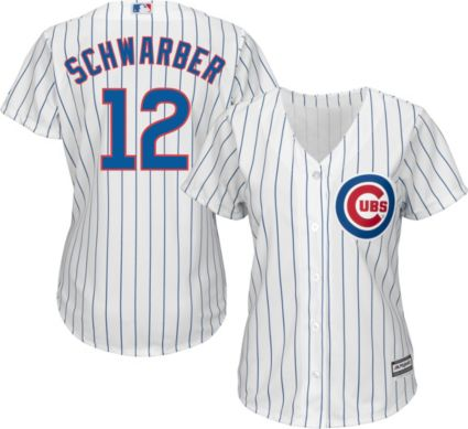 c1e1db8c4 Majestic Women s Replica Chicago Cubs Kyle Schwarber  12 Cool Base Home  White Jersey