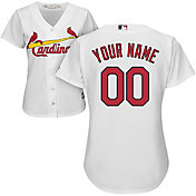 Majestic Women's Custom Cool Base Replica St. Louis Cardinals Home White Jersey