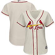Majestic Women's Replica St. Louis Cardinals Cool Base Alternate Ivory Jersey