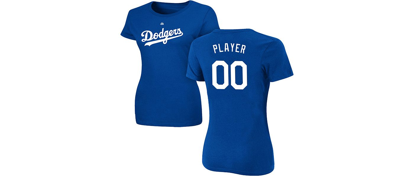 Majestic Women's Full Roster Los Angeles Dodgers Royal T-Shirt