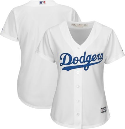 0bb6c2942 Majestic Women s Replica Los Angeles Dodgers Cool Base Home White Jersey.  noImageFound