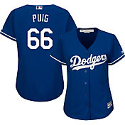 Majestic Women's Replica Los Angeles Dodgers Yasiel Puig #66 Cool Base Alternate Royal Jersey