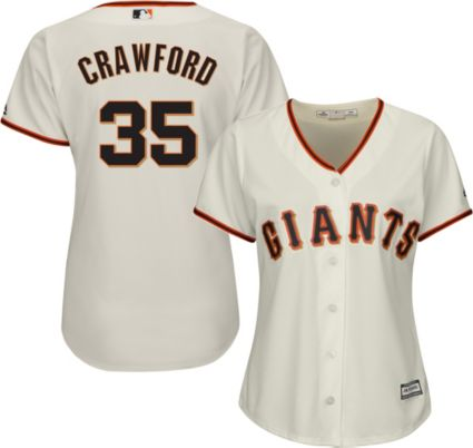 47bc8c63c96 Majestic Women s Replica San Francisco Giants Brandon Crawford  35 Cool  Base Home Ivory Jersey. noImageFound