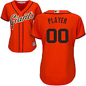 Majestic Women's Full Roster Cool Base Replica San Francisco Giants Alternate Orange Jersey
