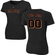 460985695eb Majestic Women s Custom San Francisco Giants Black T-Shirt