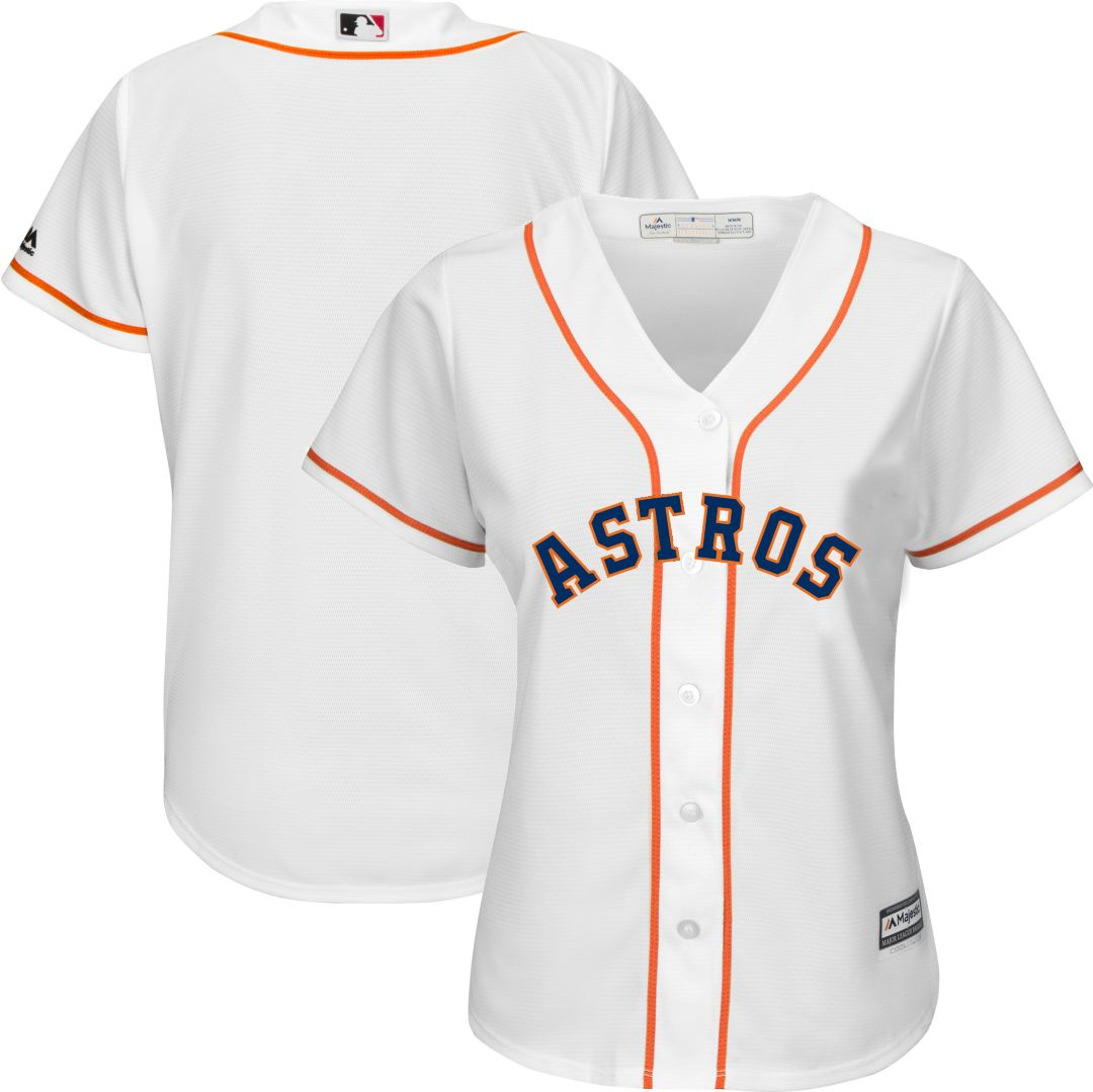 new concept 40c45 f7d4b Majestic Women's Replica Houston Astros Cool Base Home White Jersey