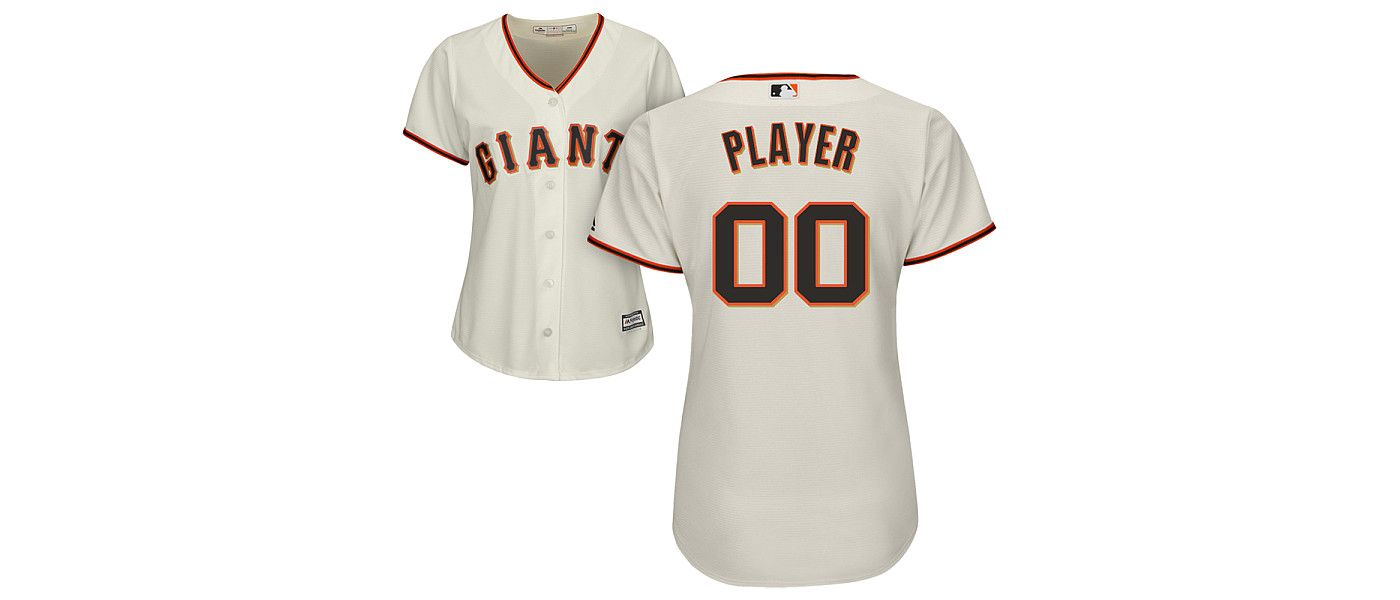 Majestic Women's Full Roster Cool Base Replica San Francisco Giants Home Ivory Jersey