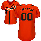 Majestic Women's Custom Cool Base Replica San Francisco Giants Alternate Orange Jersey