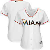 Majestic Women's Replica Miami Marlins Cool Base Home White Jersey