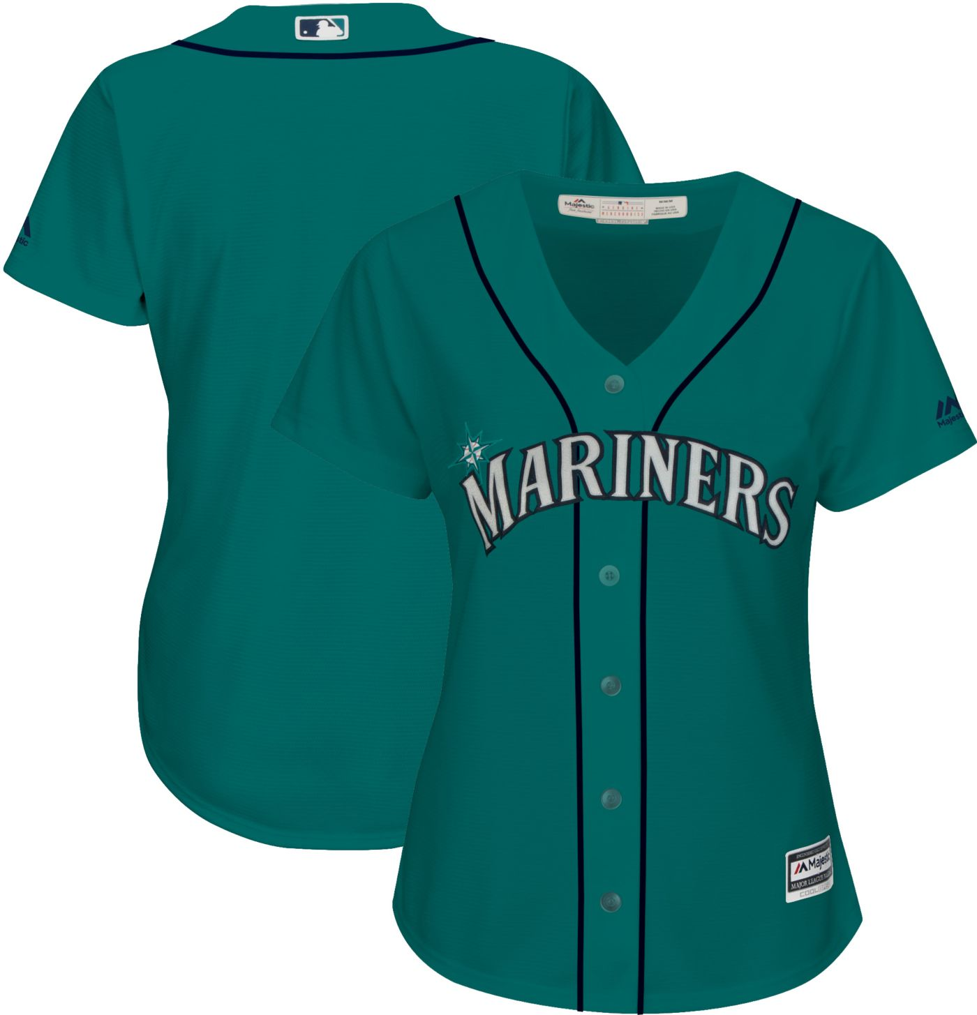 Majestic Women's Replica Seattle Mariners Cool Base Alternate Teal Jersey