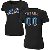 Majestic Women's Custom New York Mets Black T-Shirt