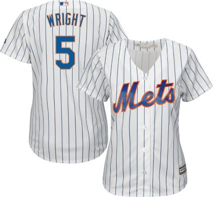 Majestic Women s Replica New York Mets David Wright  5 Cool Base Home White  Jersey. noImageFound d80ea73a45