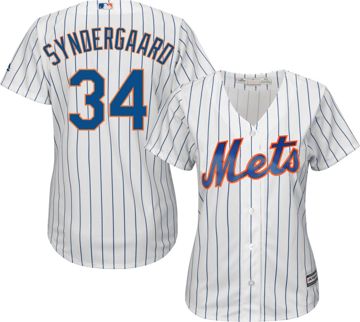 Majestic Women's Replica New York Mets Noah Syndergaard #34 Cool Base Home White Jersey