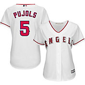 Majestic Women's Replica Los Angeles Angels Albert Pujols #5 Cool Base Home White Jersey