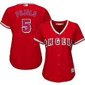Majestic Women's Replica Los Angeles Angels Albert Pujols #5 Cool Base Alternate Red Jersey