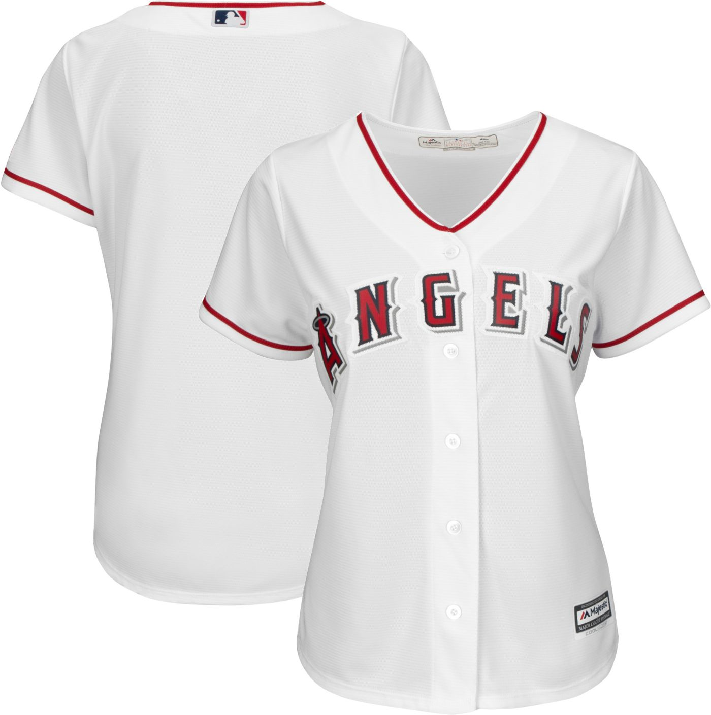 Majestic Women's Replica Los Angeles Angels Cool Base Home White Jersey