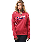 Majestic Women's Los Angeles Angels On-Field Red Authentic Collection Quarter-Zip Pullover