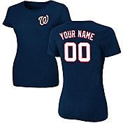 Majestic Women's Custom Washington Nationals Navy T-Shirt