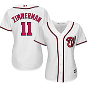 Majestic Women's Replica Washington Nationals Ryan Zimmerman #11 Cool Base Home White Jersey