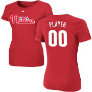 Majestic Women's Full Roster Philadelphia Phillies Red T-Shirt
