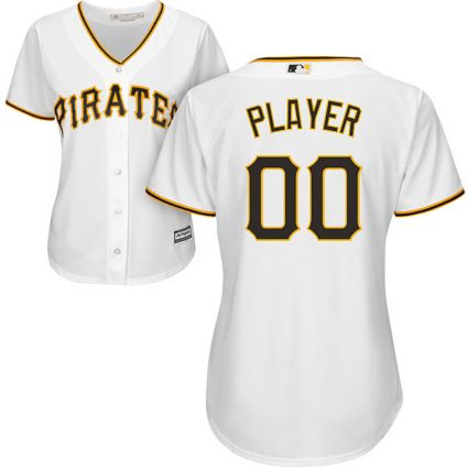 separation shoes f04f7 931b7 Majestic Women's Full Roster Cool Base Replica Pittsburgh Pirates Home  White Jersey