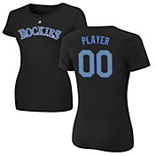 Majestic Women's Full Roster Colorado Rockies Black T-Shirt