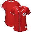 Majestic Women's Replica Cincinnati Reds Cool Base Alternate Red Jersey