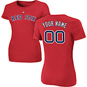 Majestic Women's Custom Boston Red Sox Red T-Shirt