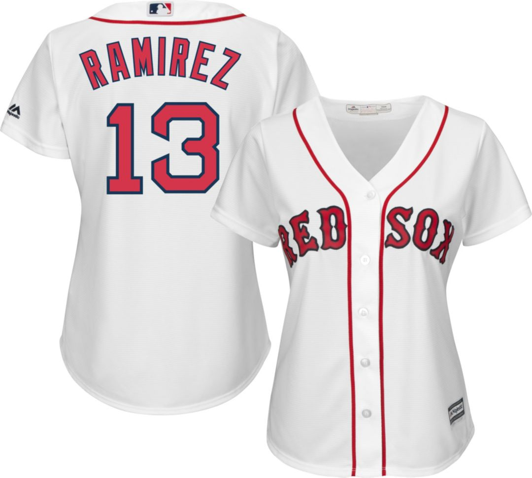 check out 96b2e 29e9d Majestic Women's Replica Boston Red Sox Hanley Ramirez #13 Cool Base Home  White Jersey