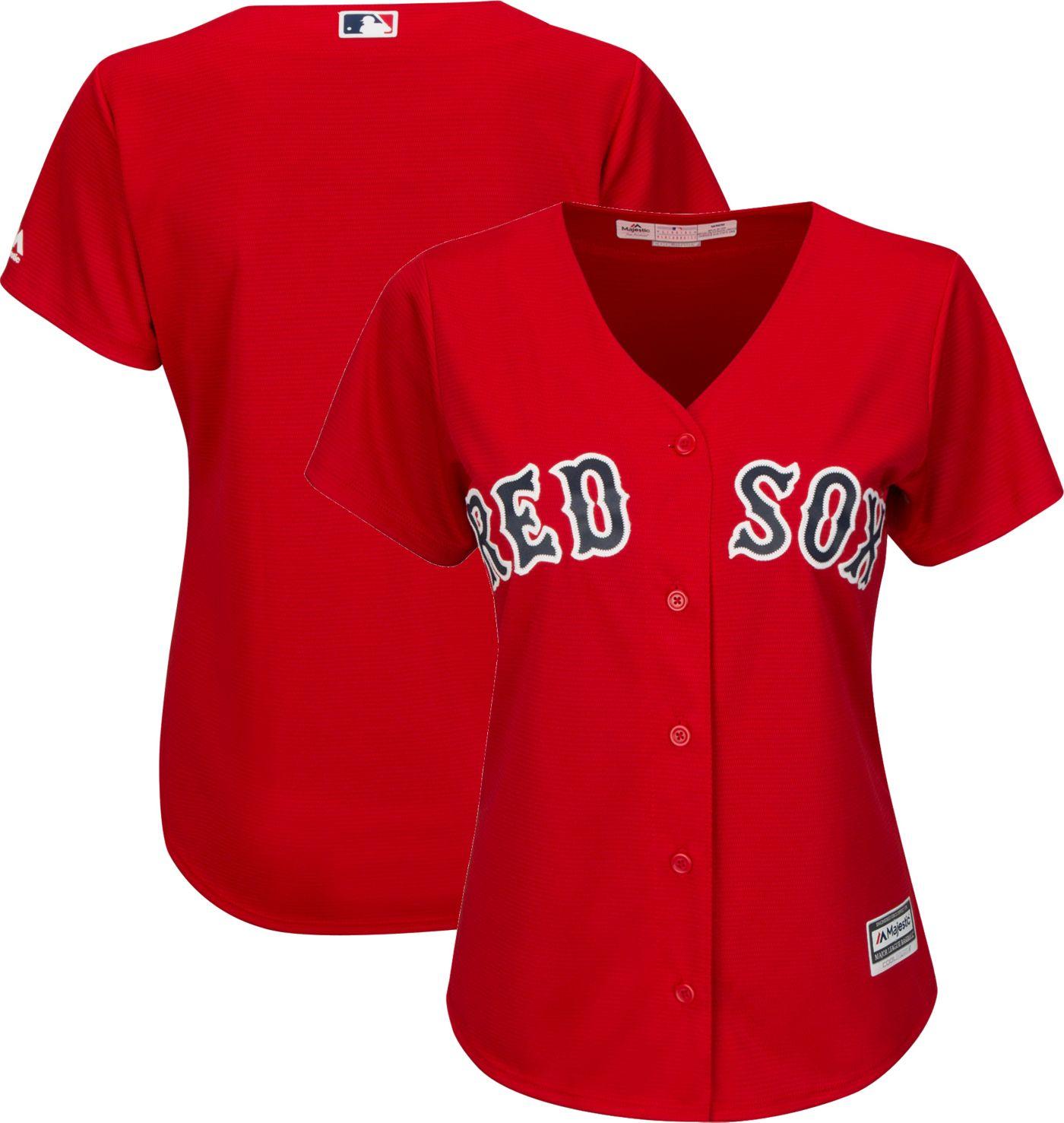 Majestic Women's Replica Boston Red Sox Cool Base Alternate Red Jersey