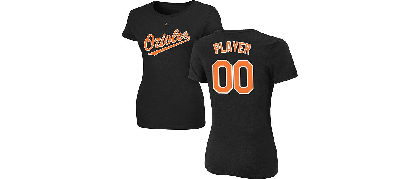 Majestic Women's Full Roster Baltimore Orioles Black T-Shirt