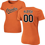Majestic Women's Full Roster Baltimore Orioles Orange T-Shirt