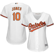 Majestic Women's Replica Baltimore Orioles Adam Jones #10 Cool Base Home White Jersey